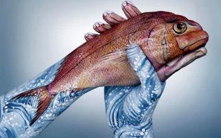 Рыбки боди-арт на руках – домашняя аквариумистика